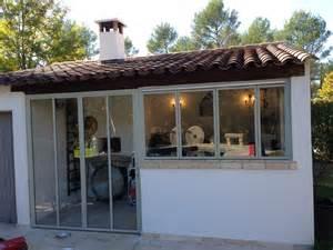 Pool House Garage cloison exterieur non isol 233 fabrication cloison
