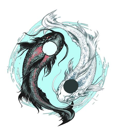 yin yang koi tattoo 30 koi fish tattoo designs with meanings