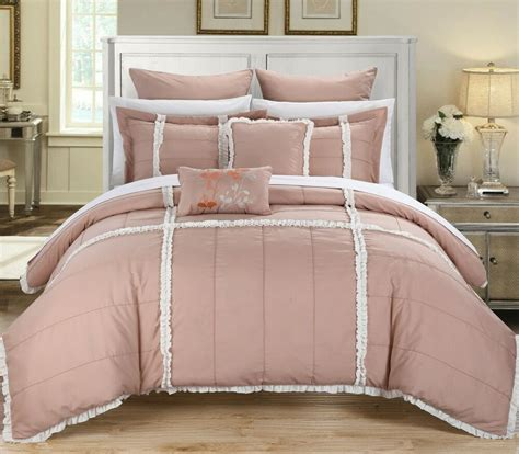 White Bed Set by Chic Home Bedding Legend Pink White 7
