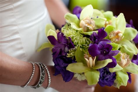 purple and green bridal bouquet weddingbee photo gallery