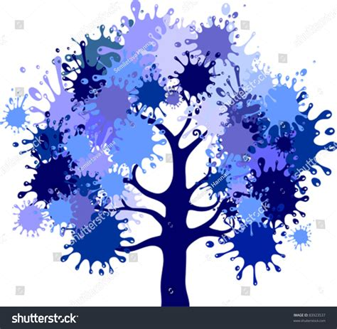 abstract vector winter tree design abstract winter tree isolated on white background vector illustration 83923537