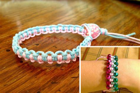Make Macramé Cord Bracelet Patterns Home - macrame two tone bracelet