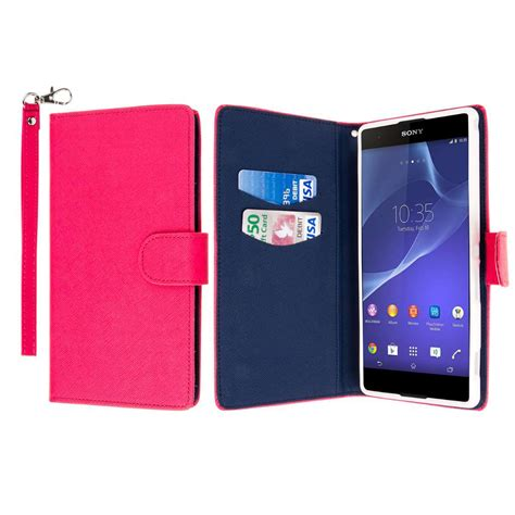 Flip Cover Leather Card Wallet Stand Cover Hp Xiaomi Redmi Note 2 for sony xperia t2 ultra wallet mpero flex flip