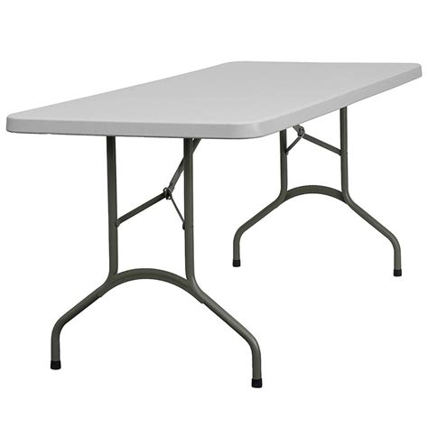 72 folding table 30 w x 72 l granite white plastic folding table from