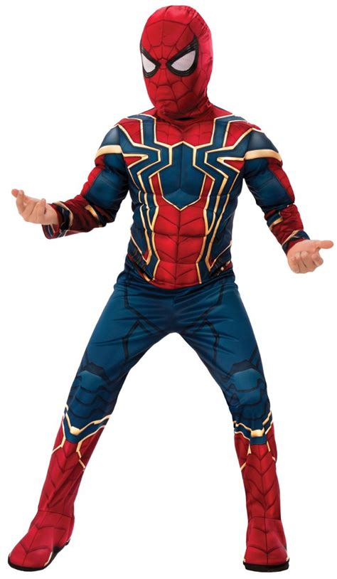 boys spiderman muscle chest infinity war costume