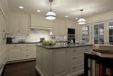 Kitchen Island Furniture With Seating by Ivory Cabinets Transitional Kitchen Carole Freehauf