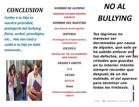 ejemplos de bulling newhairstylesformen2014 com calam 233 o triptico sobre el bullying
