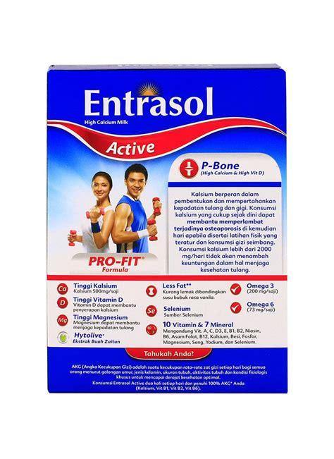 Entrasol Active entrasol active bubuk chocolate box 160g klikindomaret