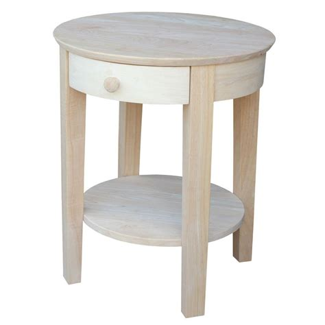 unfinished accent table international concepts portman unfinished end table ot 41 the home depot