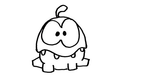 free om nom coloring pages