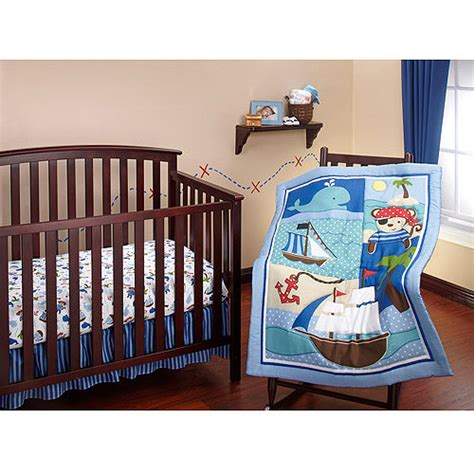 Little Bedding By Nojo Baby Buccaneer 3 Piece Crib Bedding Walmart Baby Bedding Sets