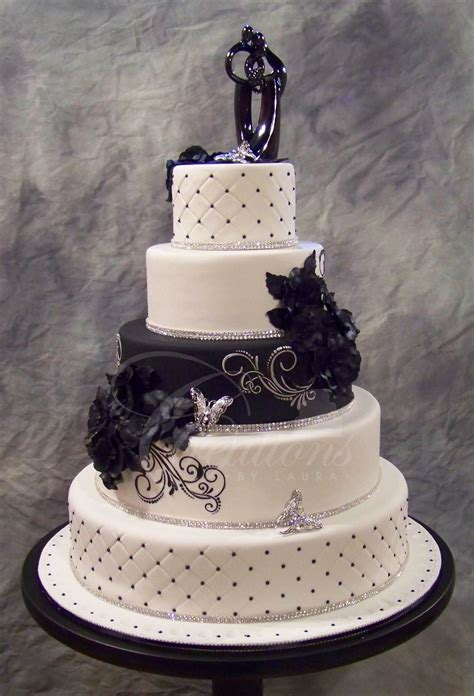 Black Wedding Cake Flowers by Creations By