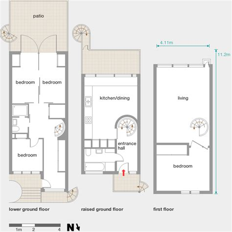 Modern Floor Plan winscombe street modern architecture london