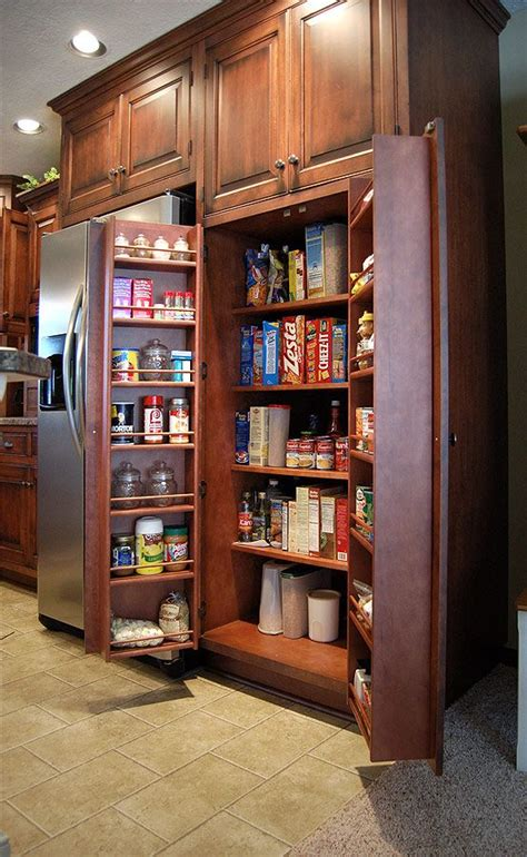 Open Pantry Ideas by Swing Open Pantry With Racks Home Room Designs And Ideas
