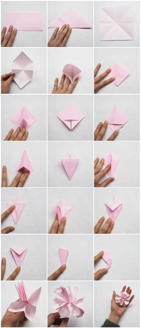 Diy Origami Flower - miss l s hawaii birthday