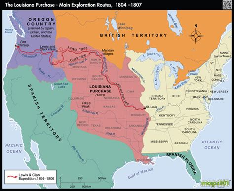 louisiana purchase map activity louisiana purchase and western exploration routes map by
