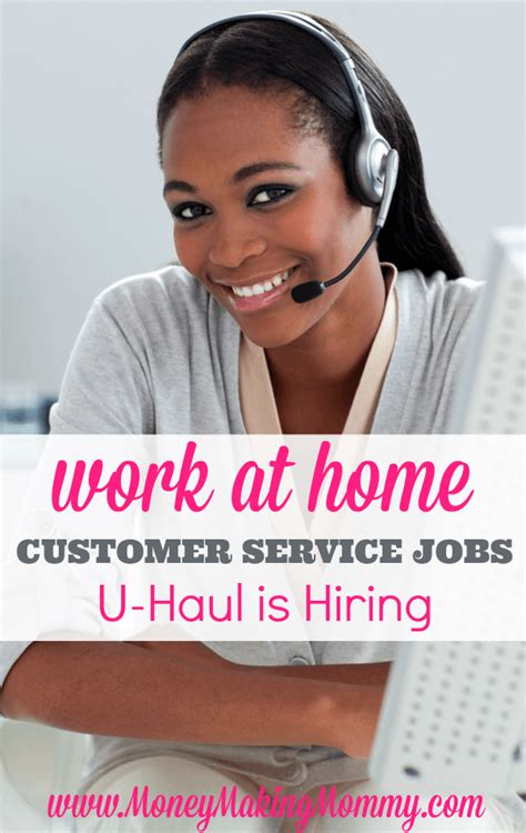 u haul offers work at home time and part time