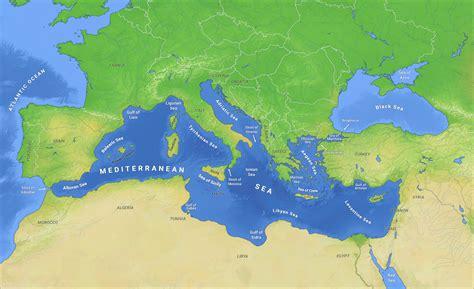map of mediterranean sea mediterranean sea quot subdivisions quot 1280x781 mapporn