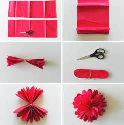Make A Flower Out Of Paper - diy tissue paper flower backdrop