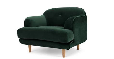 green armchairs gracie armchair pine green velvet made com