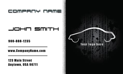 card template mechanic auto mechanic business cards free shipping