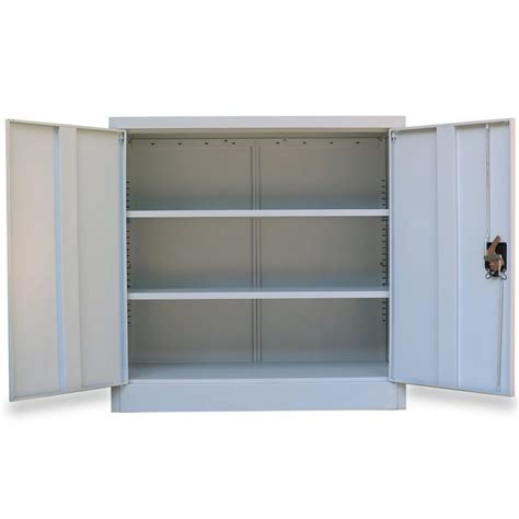 Cabinet A by Metal Office Cabinet 2 Doors 90 Cm Grey Vidaxl Co Uk