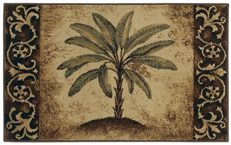 tropical kitchen rugs shaw beige 3x5 tropical palm tree scrolls kitchen area rug