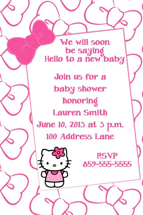 Hello For Baby Shower by Hello Baby Shower Invitation By Lisagaledesigns On