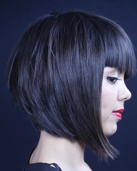 a frame hairstyles with bangs 15 classy a line bob hairstyles