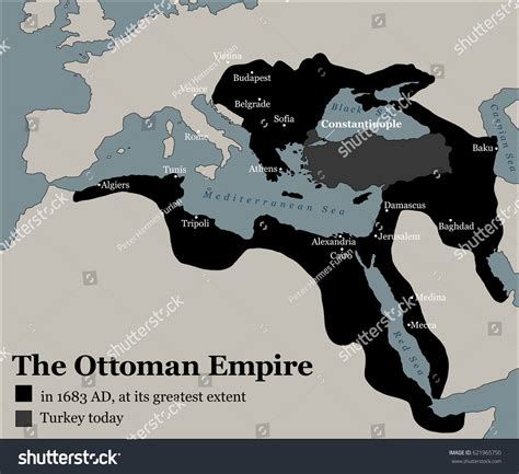 ottoman empire history turkey today ottoman empire greatest extent stock vector
