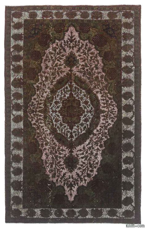 dyed rugs k0010640 green carved dyed rug