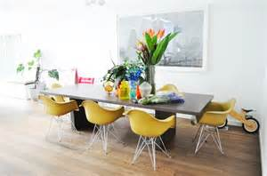 Yellow Dining Table And Chairs Sense And Simplicity Painting The Dining Room Table