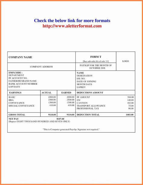 payslip philippines template 9 singapore payslip template salary slip