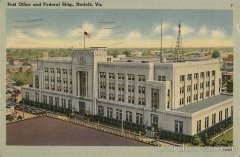Post Office Norfolk Va by Post Office And Federal Building Norfolk Va Postcard