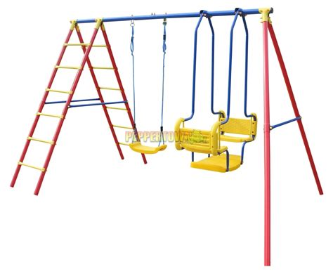 double swing and seesaw set hurricane double swing set by peppertown online store