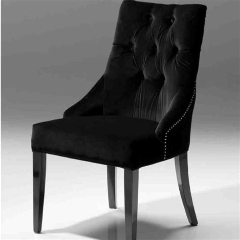Black Velvet Dining Chairs Home Furniture Design 6 Black Dining Chairs