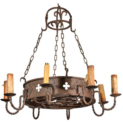 kronleuchter eisen antik circa 1900 antique iron chandelier from for