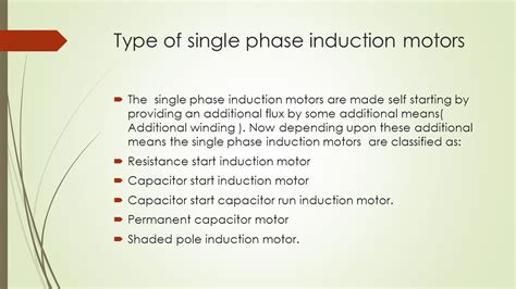types of starting capacitors single phase induction motor ppt