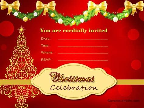 christmas invitation cards special day celebrations