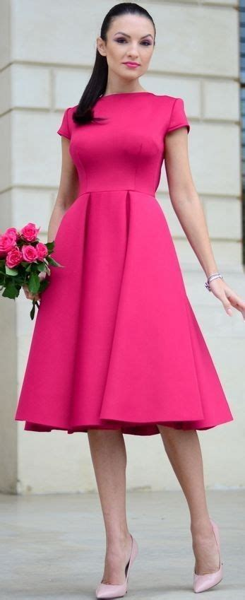what is pinks style fuchsia midi dress holiday style inspo by my silk