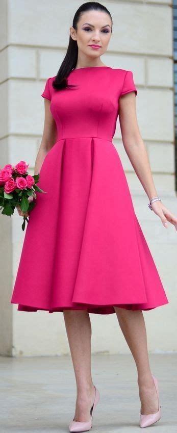 fuchsia color dress fuchsia midi dress style inspo by my silk