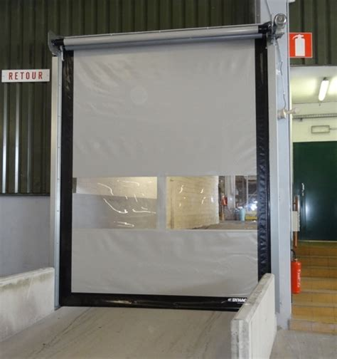 large interior high speed roll up door dynaco m2 compact