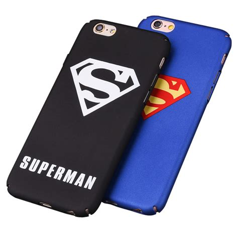 Iphone 7 Superman Kulit Pu Casing superman plastic for iphone