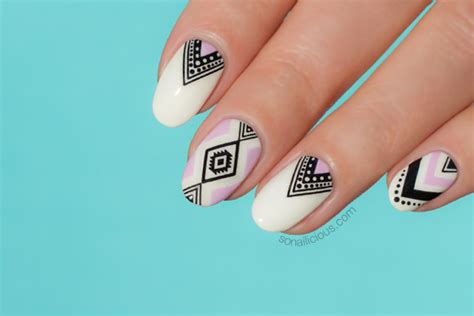 aztec nail desings studio design gallery best design how to do aztec nails in 5 minutes seriously easy nail