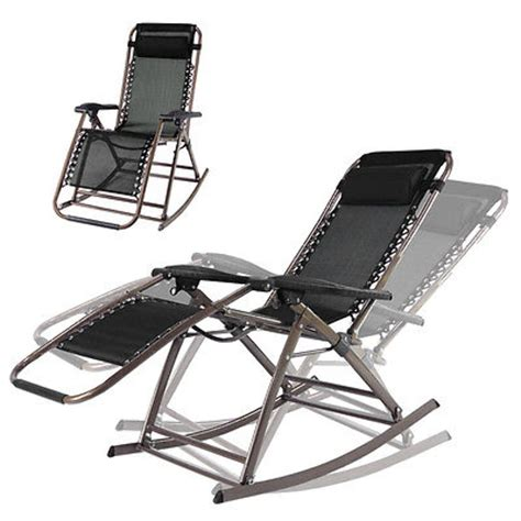 infinity  gravity rocking chair outdoor lounge patio folding reclining chair