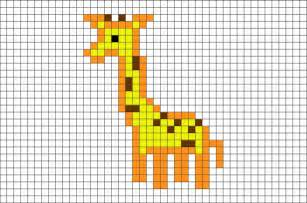 giraffe pixel art brik