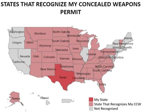 texas ccw reciprocity map 17 best ideas about concealed carry reciprocity map on concealed carry map
