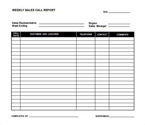 5 daily call report templates 6 free word pdf format download