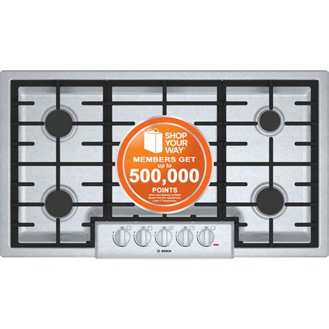 Bosch 800 Gas Cooktop bosch 36 quot 800 series gas cooktop stainless steel