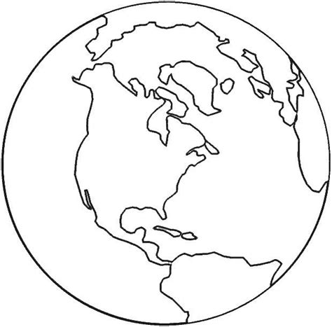 templates for kids to color globe printable pinterest